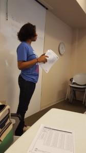 Brianna Chair Providing Direction SAT Workshop